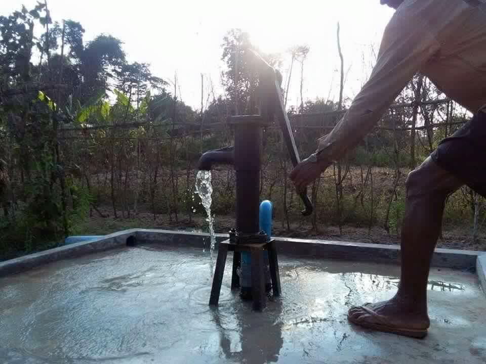 Waterput en moestuintjes